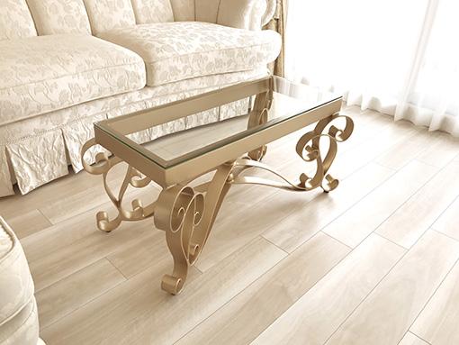 アイアン センターテーブル アイーダ W100×D50cm ゴールド色