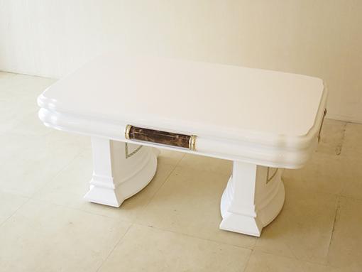 アフロディーテ センターテーブル 100cm×60cm 大理石ダークエンペラーダの装飾