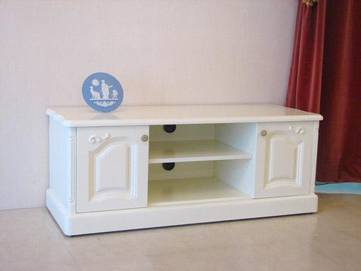 輸入家具 ラ・シェル テレビボード W120 箱脚 ホワイト色