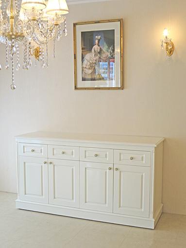 キッチンボード W1600×D500×H850 ホワイトグロス色
