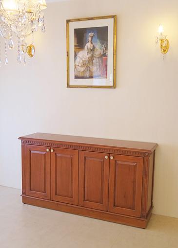 マダム・ココ サイドボード W150×H80cm 4枚扉 マイエル色