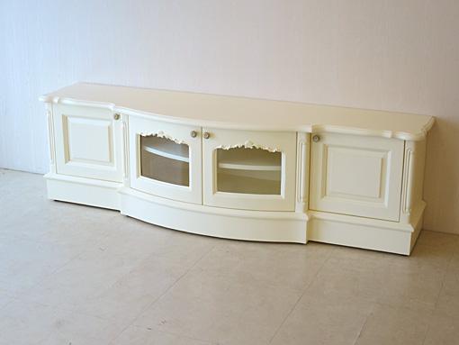 TVボード ラウンドタイプ 箱脚 W170 ホワイト色