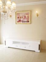 アフロディーテ テレビボード W200 大理石ダークエンペラーダの装飾