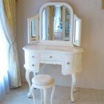 ドレッサー プリンセス 三面鏡 バニラホワイトのサムネイル