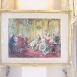 絵画 額装 ポンパドール夫人と挨拶するモーツァルトのサムネイル