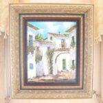 絵画 額装 白い街のサムネイル