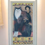 絵画 額装 黒い猫のサムネイル