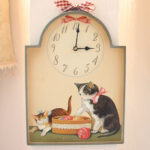 絵画 額装 猫の時計Ⅰのサムネイル