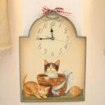 絵画 額装 猫の時計Ⅱのサムネイル