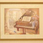 絵画 ピアノのある風景のサムネイル