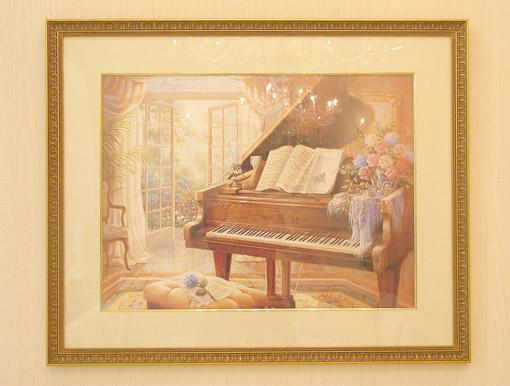 絵画 ピアノのある風景