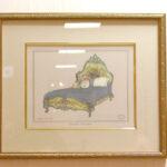 絵画 アンティークベッド フラワーブーケのサムネイル