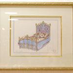 絵画 アンティークベッド ローズのサムネイル