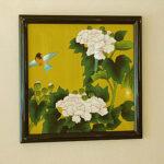 絵画 額装 漆絵 牡丹のサムネイル