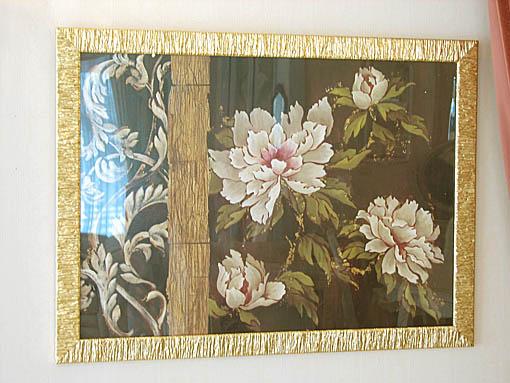 絵画 額装 シノワ 牡丹2
