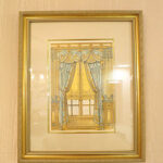 絵画 額装 カーテングリーン&ゴールドのサムネイル