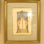 絵画 額装 カーテンブルー&イエローのサムネイル