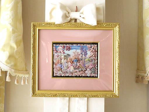 絵画 額装 プチポワン 桜の園