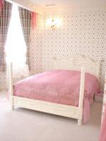 非公開: 輸入家具 オーダー家具 ラ・シェル 天蓋ベッド ダブルサイズ セパレート ホワイト色