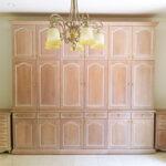 造り付け家具 パターン4 ピンクベージュ色のサムネイル
