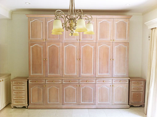 造り付け家具 パターン4 ピンクベージュ色