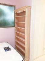 造り付け家具 ブックシェルフ シェルの彫刻 ピンクベージュ色 パターン2