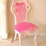ビバリーヒルズ ダイニングチェア スモールサイズ バービーピンク色艶あり ベビーピンクの張り地のサムネイル