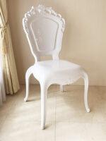 ヨーロッパ家具 ダイニングチェア ロココ調 ホワイト色