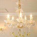 シャンデリア プリンセスティアラ 5灯 イエロードロップのサムネイル