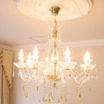 シャンデリア プリンセスティアラ 8灯 イエロードロップのサムネイル