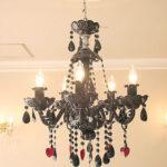 ブラックシャンデリア サマンサティアラ 5灯 ハートのサムネイル
