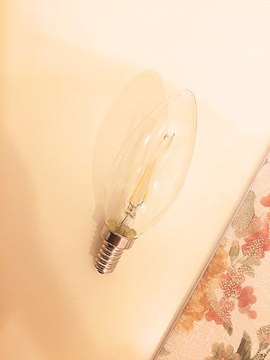 LED シャンデリア フィラメント電球 2W (20W相当)