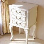 スモールチェスト 薔薇の彫刻 ホワイト色 のサムネイル
