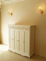 シューズラック ビバリーヒルズの彫刻 ホワイト色