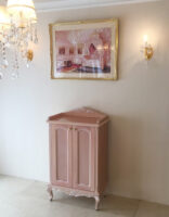 コレクションケース シェルの彫刻 ピンクベージュ色
