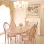 ルイ16世スタイル ダイニングテーブル 160 ピンクベージュ色のサムネイル
