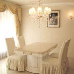 アフロディーテ ダイニングテーブル 天然大理石 ロッソポルトギャロ色のサムネイル