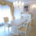 アフロディーテ ダイニングテーブル180 大理石天板 ホワイトカラーラのサムネイル