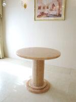 大理石家具 ダイニングテーブル ラウンド オニキス80cm