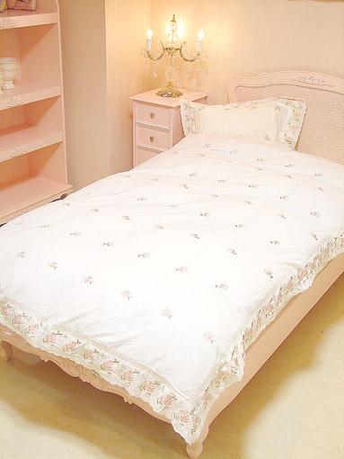 ベッドカバーセット ダブルサイズ 薔薇柄