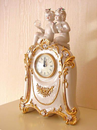 置き時計 ロココスタイル クリスタルエンジェル