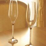 輸入雑貨 シャンパングラス クリスタルガラス 2客セットのサムネイル