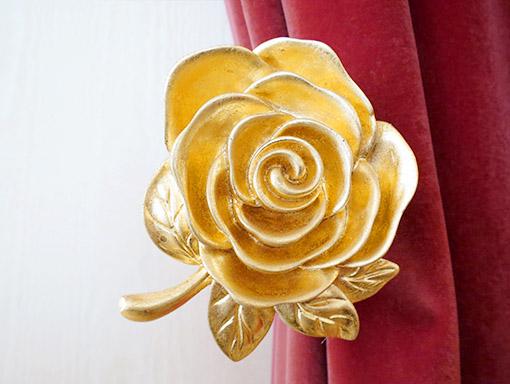 輸入雑貨 カーテンホルダー 薔薇