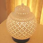 白磁透かし焼きランプ シノワのサムネイル