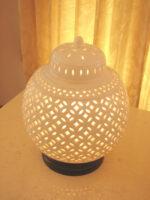 白磁透かし焼きランプ シノワ