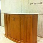 大理石家具 コンシェルジュカウンター マイエル色 シェルの彫刻 大理石天板のサムネイル
