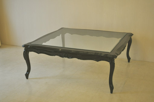 センターテーブル 120cm ブラックグロス色