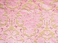 カルトナージュ 生地 金華山織り ピンク 花かご柄