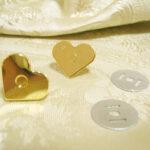カルトナージュ キュートなハート型ゴールドマグネットのサムネイル