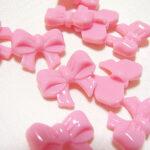 カルトナージュ ボタン リボン ピンクのサムネイル